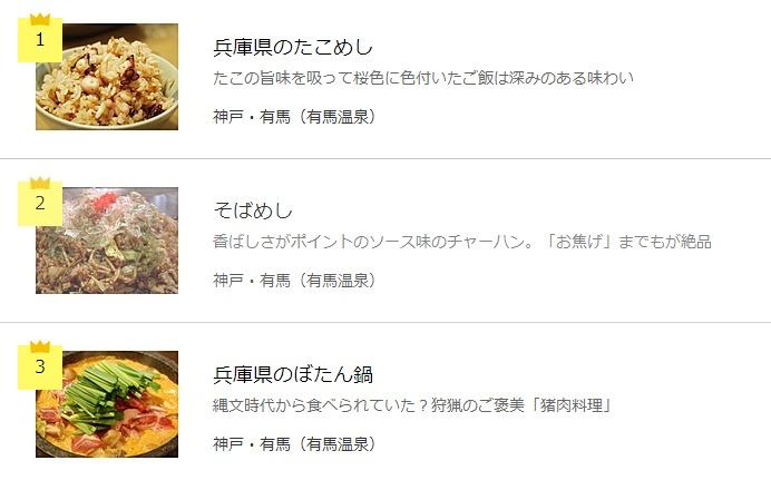 Kobe local cuisine